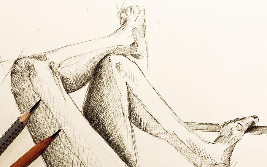 MAKUKI kresba nohy